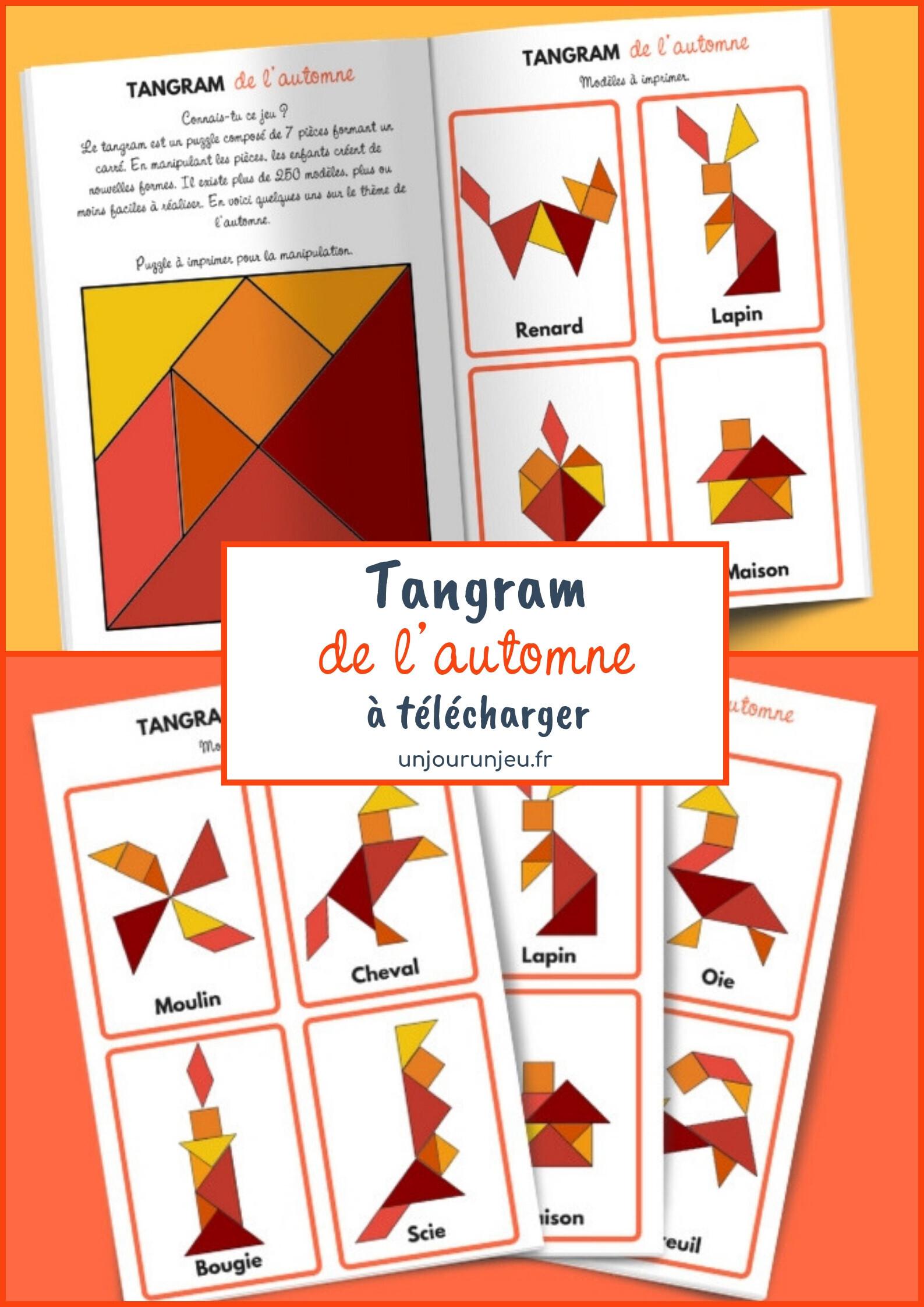 Tangram de l'automne à imprimer