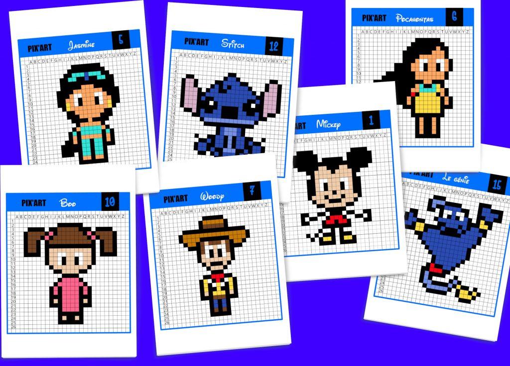 20 Modèles De Pixel Art Disney à Télécharger Gratuitement