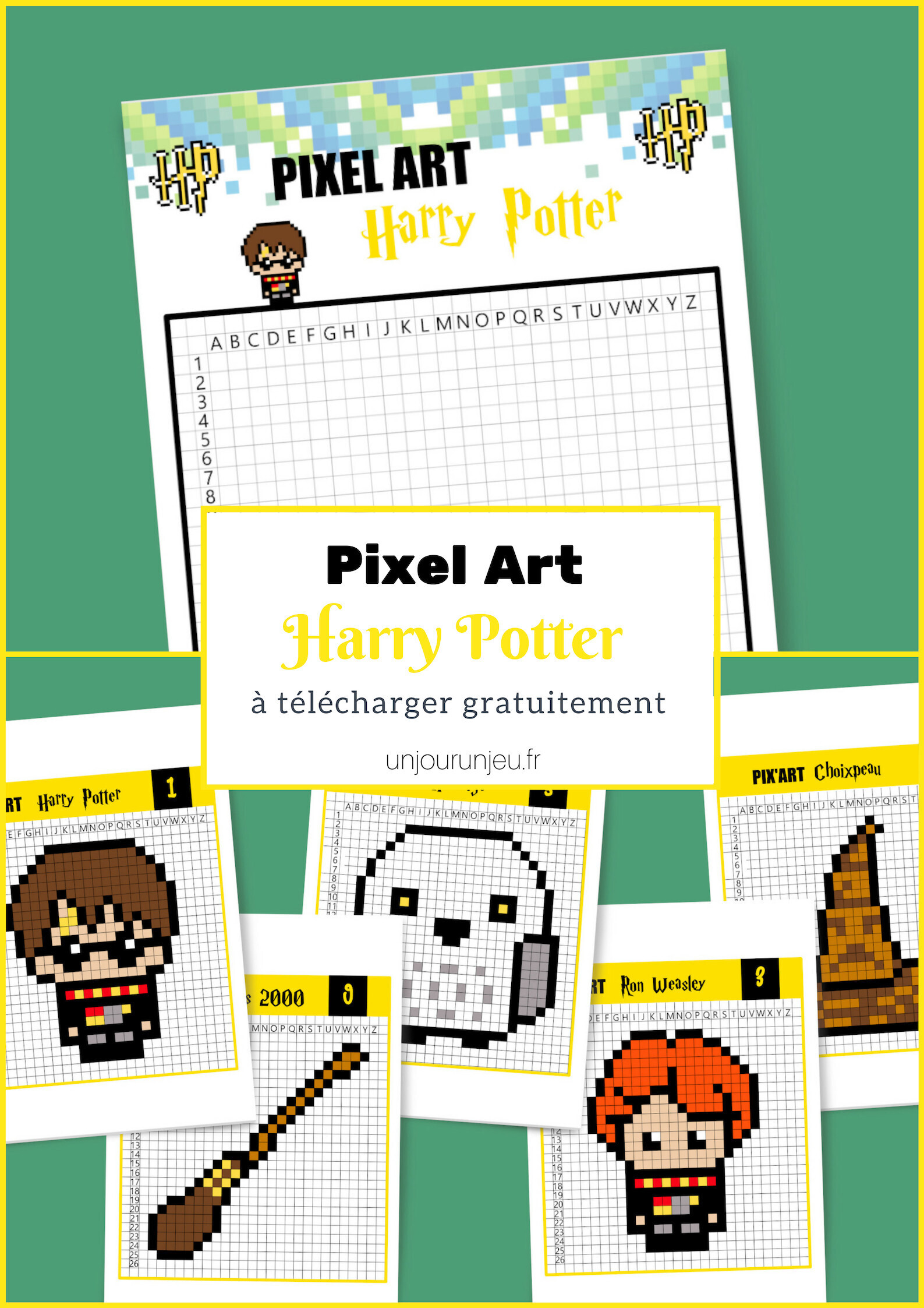 Pixel Art Harry Potter C Est Magique Un Jour Un Jeu
