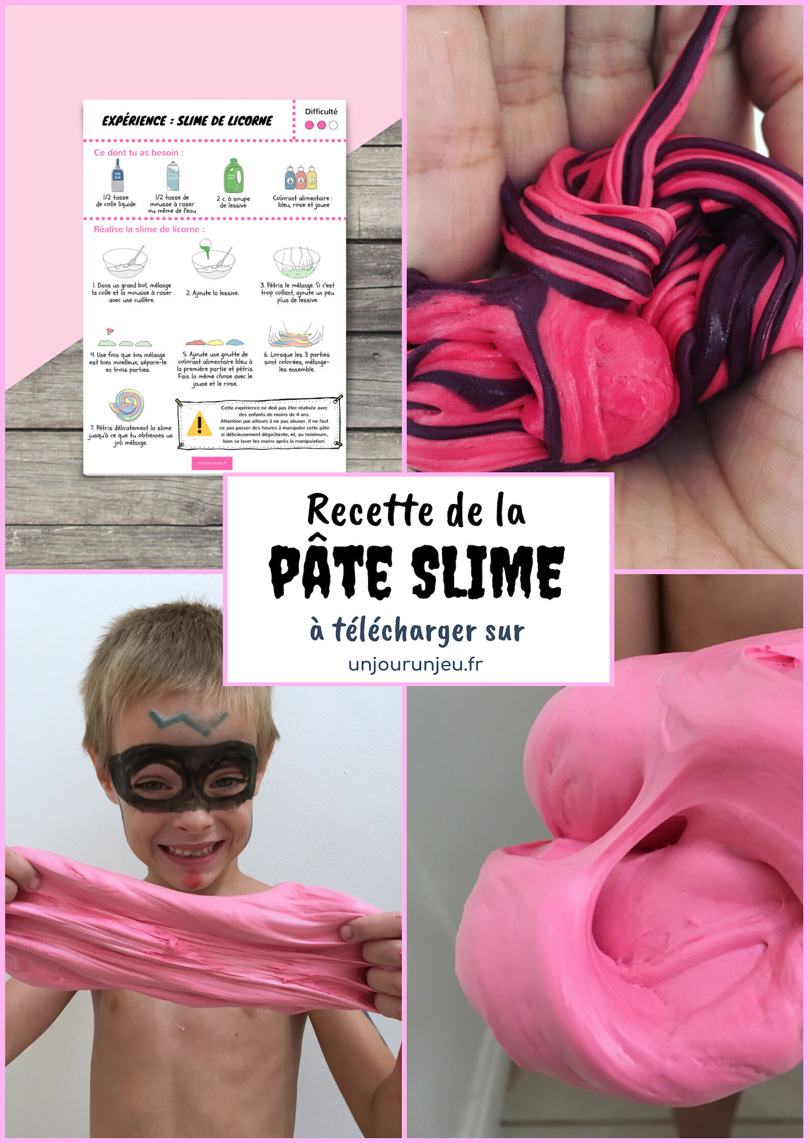 recette pate slime