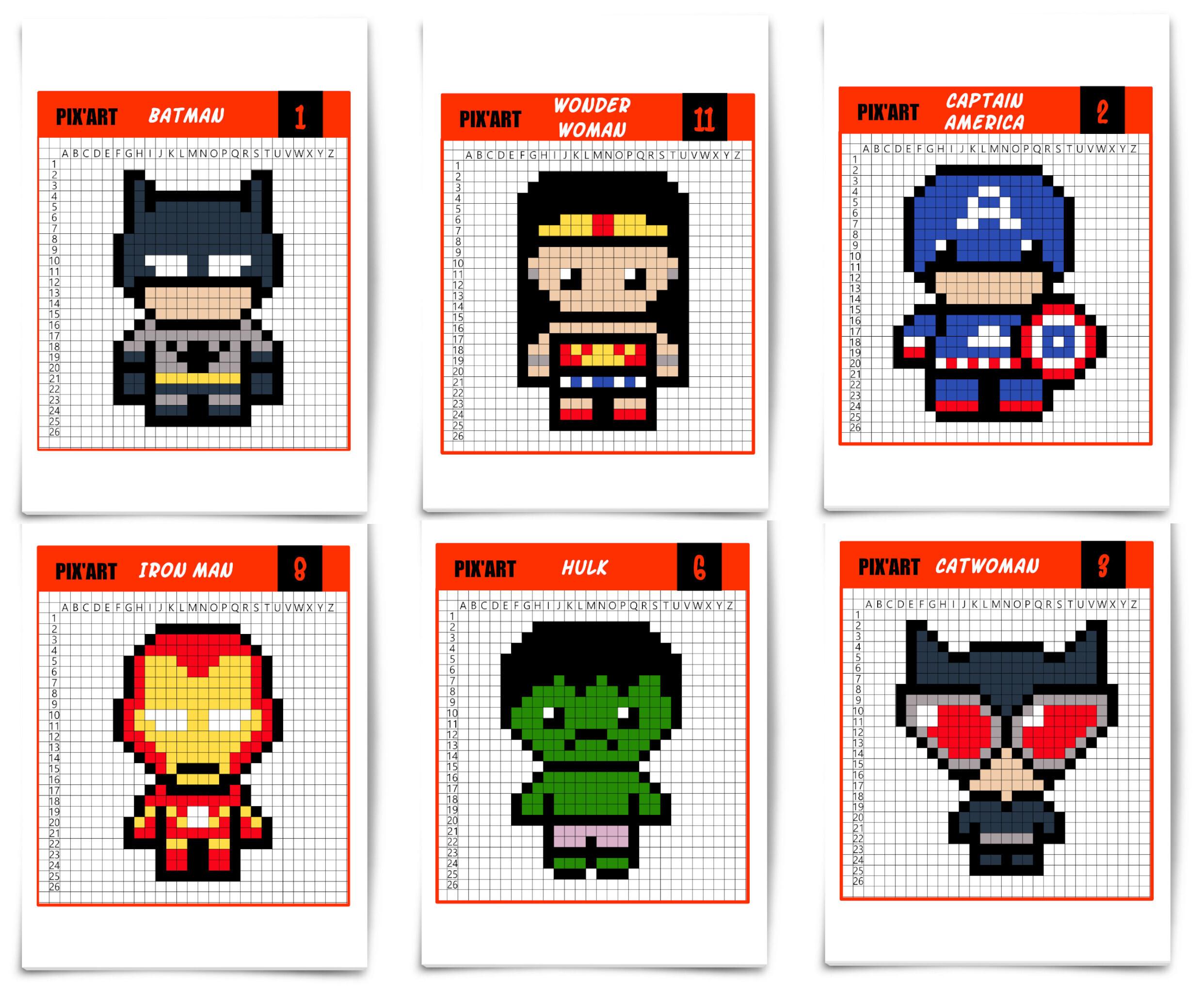 Les super h ros d barquent en pixel art un jour un jeu - Jeu spiderman gratuit facile ...