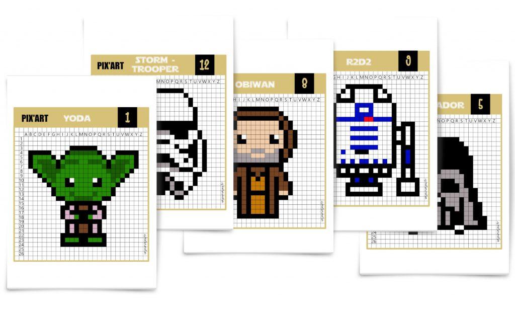 Star Wars Que La Force Soit Avec Toi Pour Ces Pixel Art Un