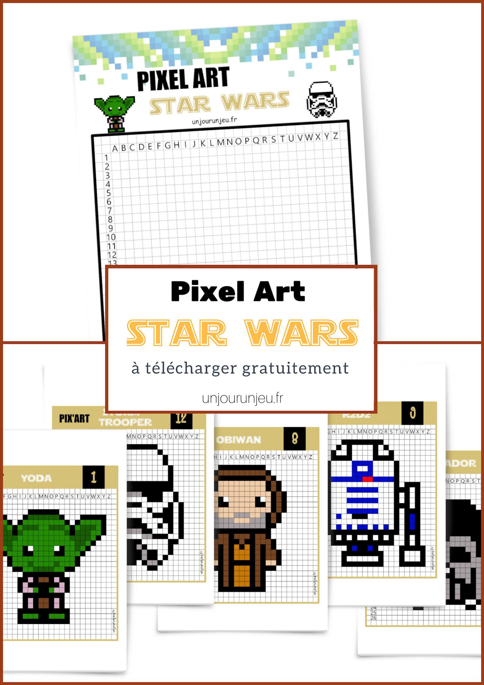 12 modèles Star Wars Pixel Art à imprimer