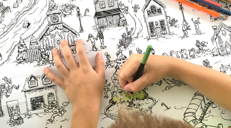 Coloriage Geant De Noel Le Village En Hiver Un Jour Un Jeu