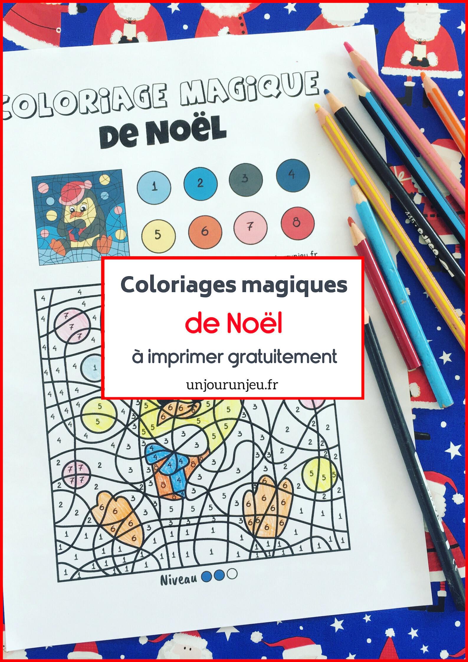 Des Coloriages Magiques De Noel A Imprimer Un Jour Un Jeu