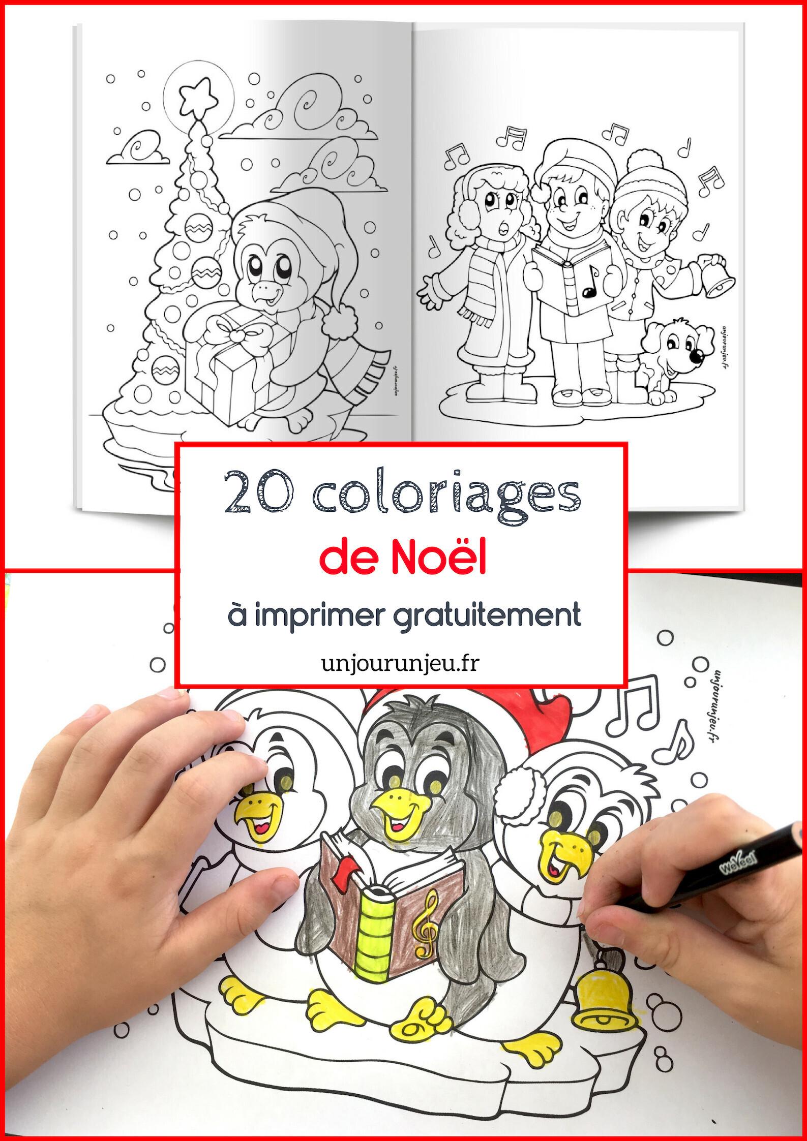 Coloriages De Noel A Imprimer Gratuitement Un Jour Un Jeu