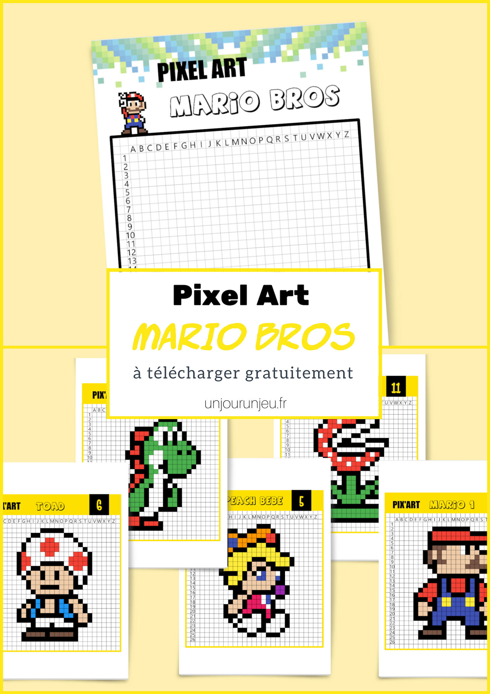 Pixel Art Bébé Yoshi