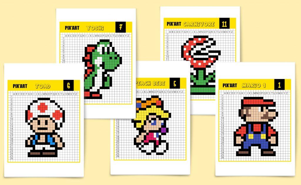 Le Célèbre Mario Bros En Pixel Art Un Jour Un Jeu