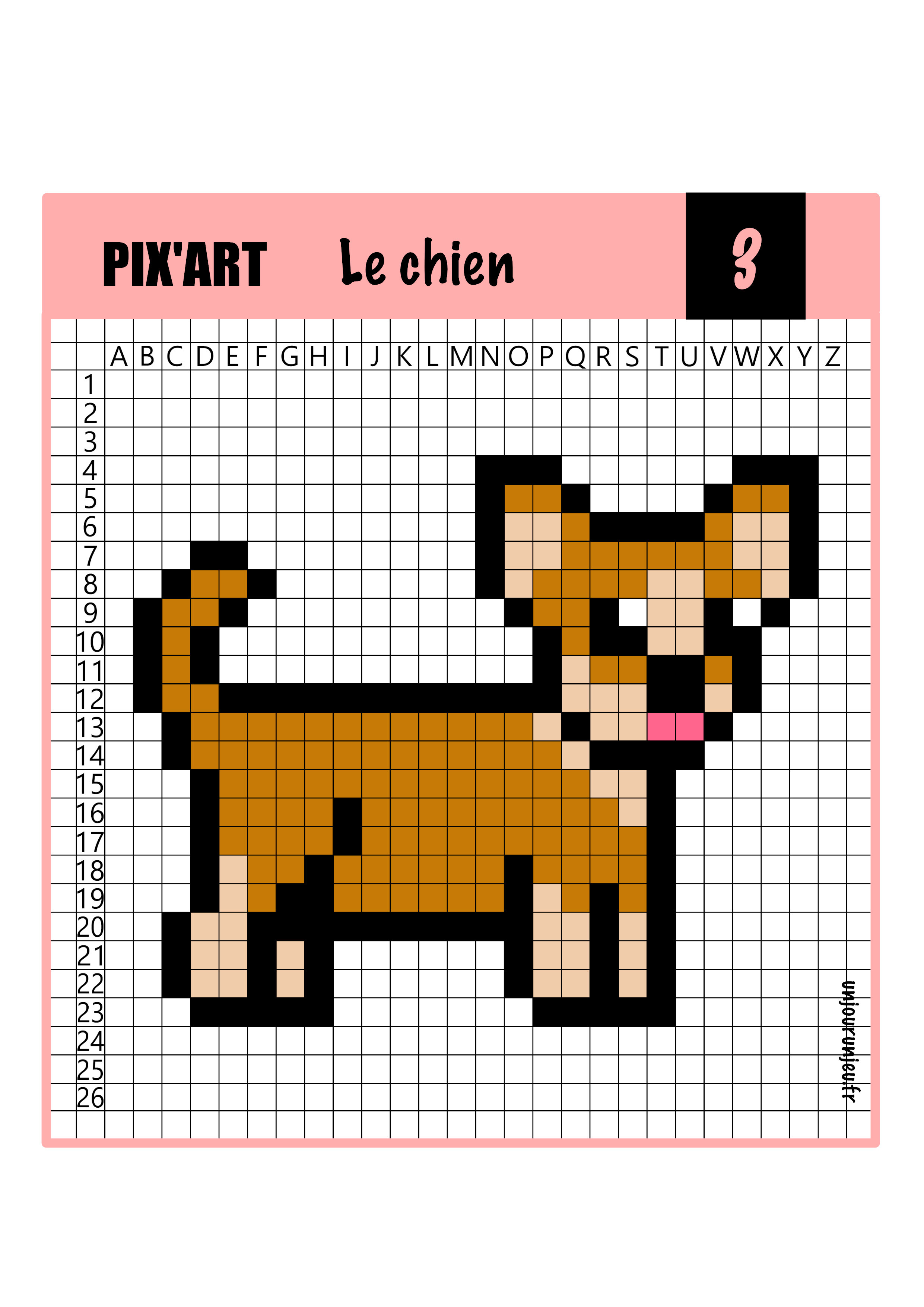 Pixel Art Animaux 12 Modèles à Télécharger Gratuitement
