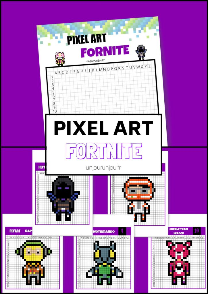Pixel Art Fortnite retrouve tes