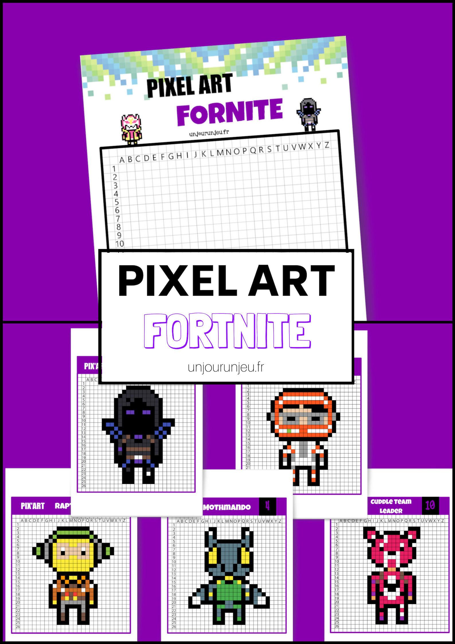 Pixel Art Fortnite Retrouve Tes Personnages Préférés Un