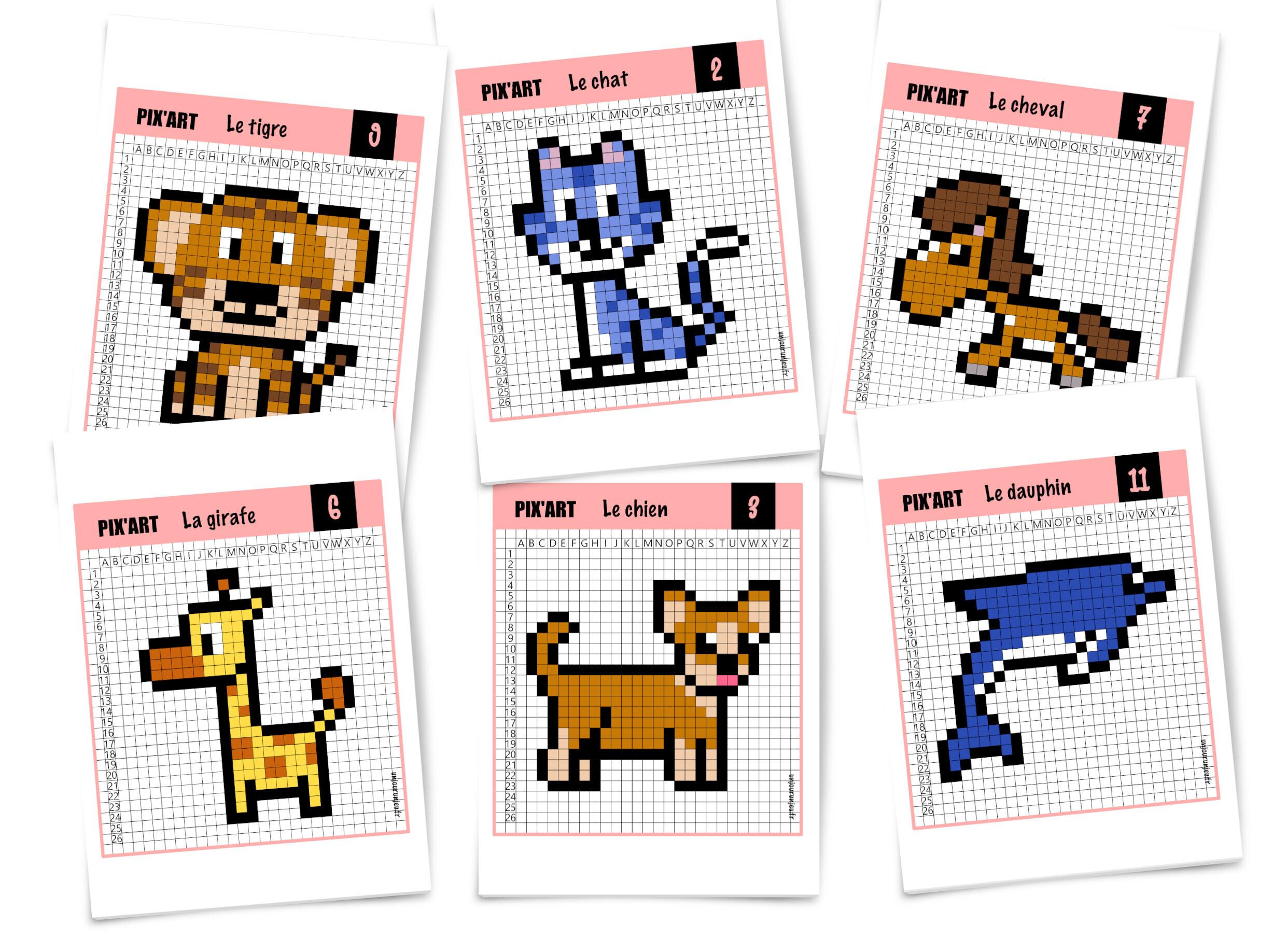 Pixel Art Facile Animaux Chat