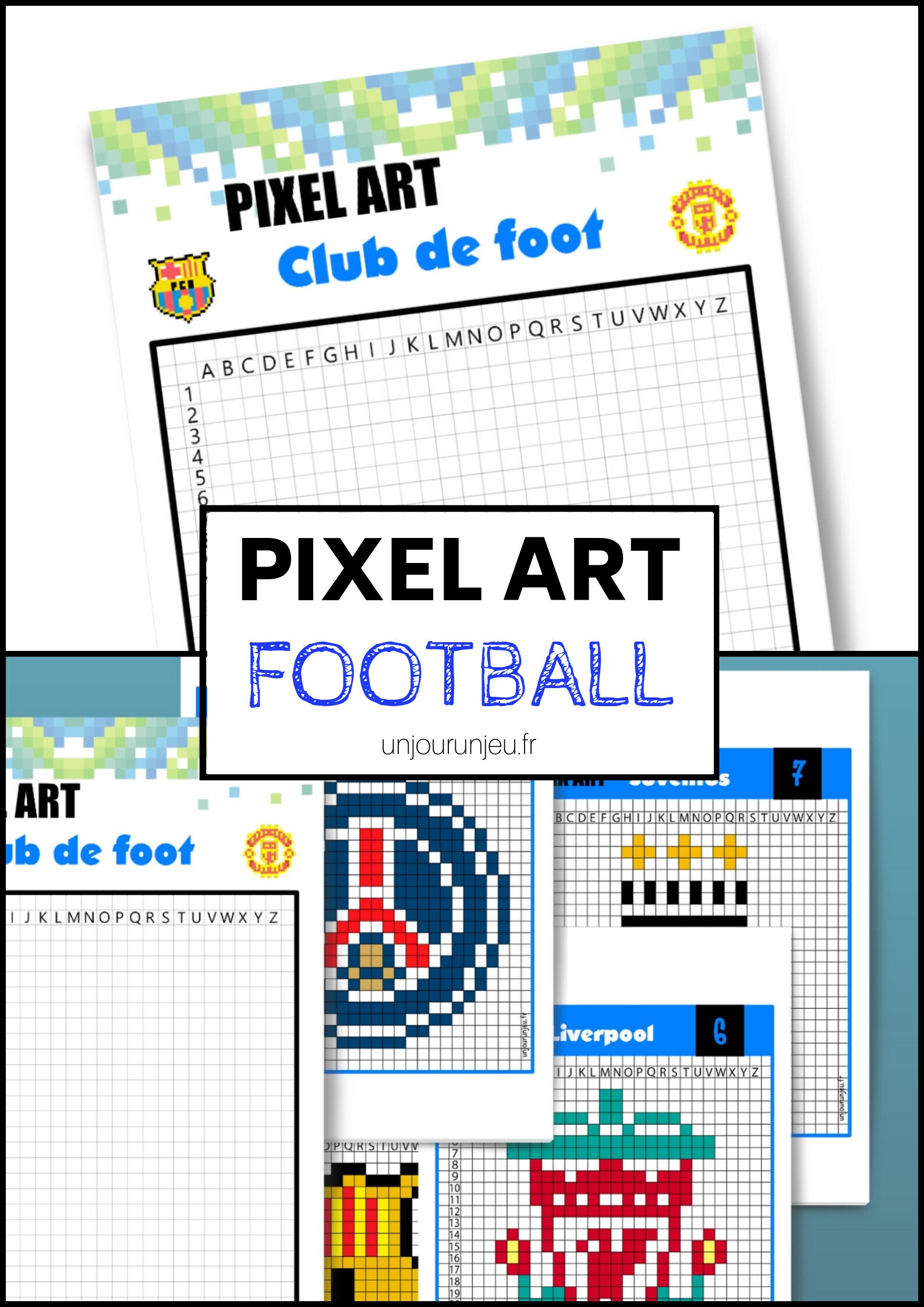 Pixel art club de football pinterest