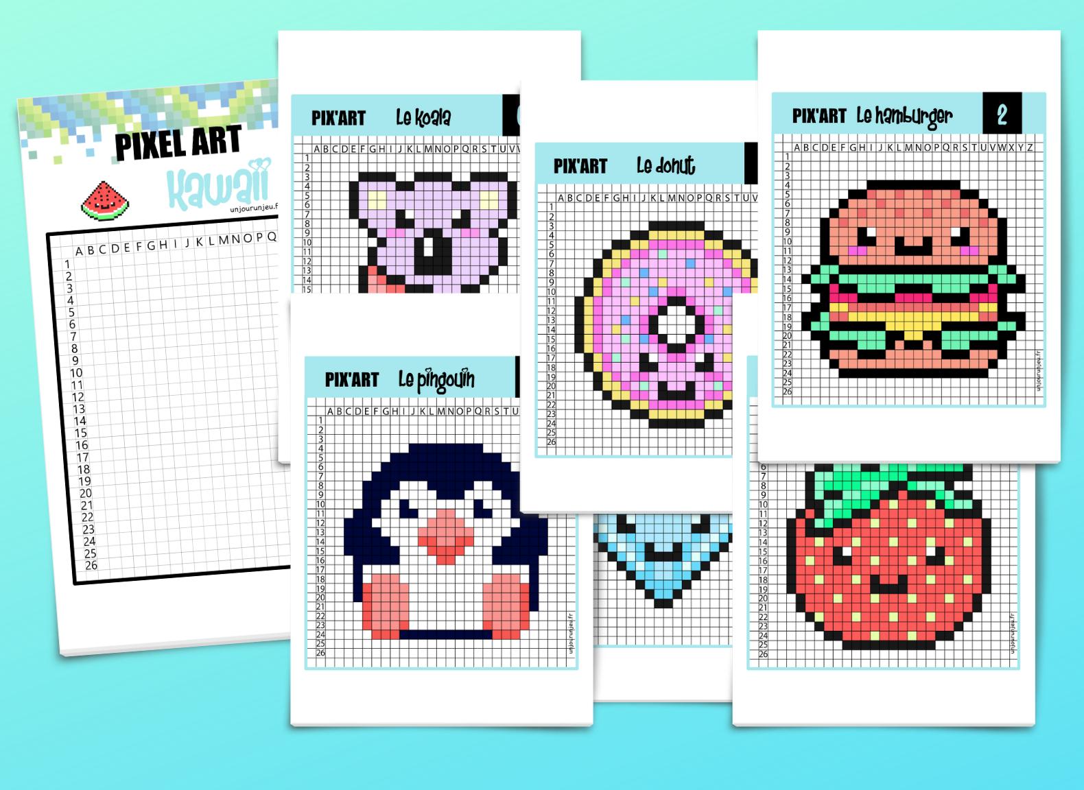 Pixel Art Kawaii 12 Modèles Trop Mignons à Télécharger