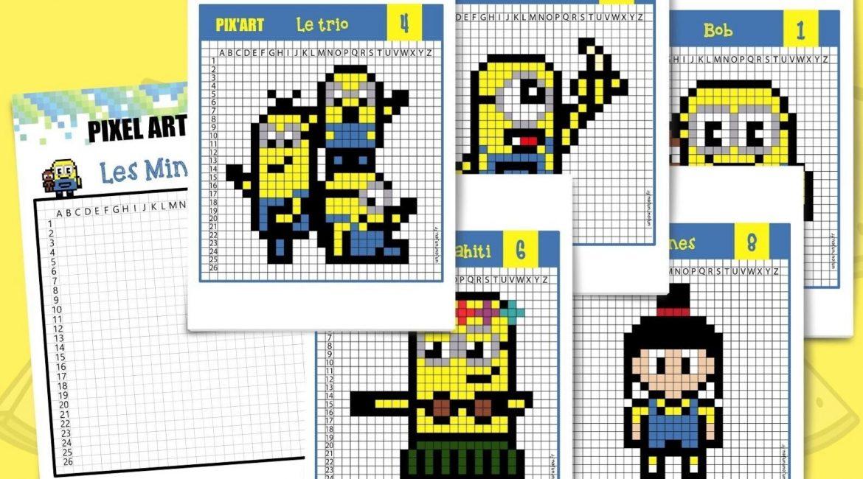 Pixel art minions unjourunjeu