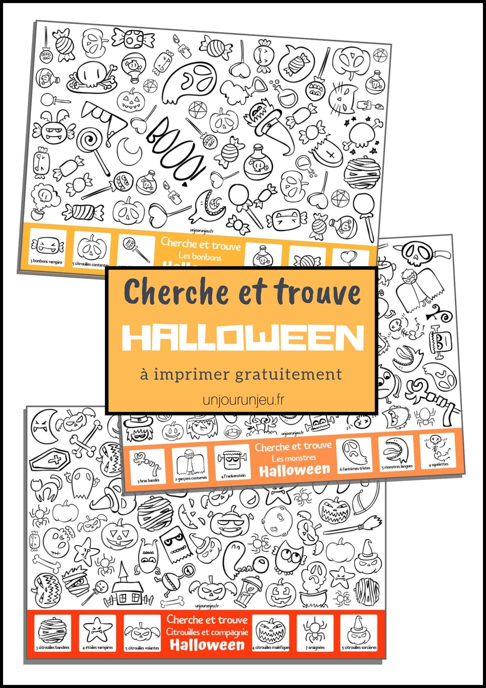 Des Jeux A Imprimer Pour Halloween Un Jour Un Jeu