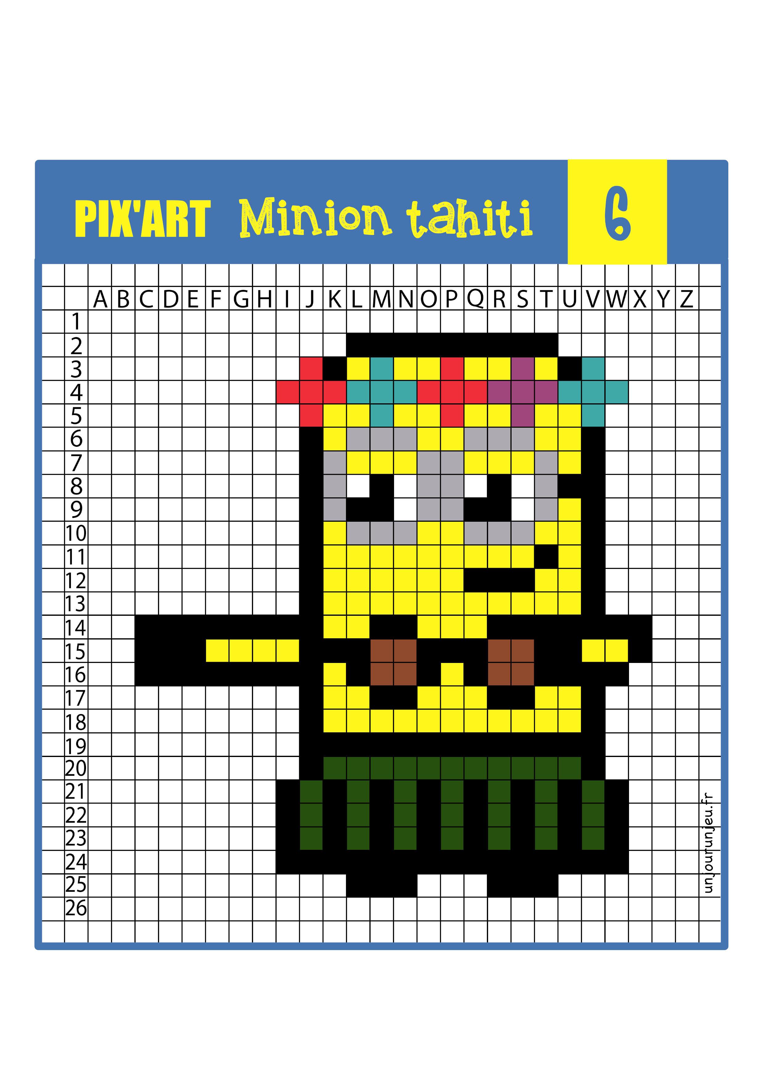 Pixel Art Minions 12 Modèles à Télécharger Gratuitement