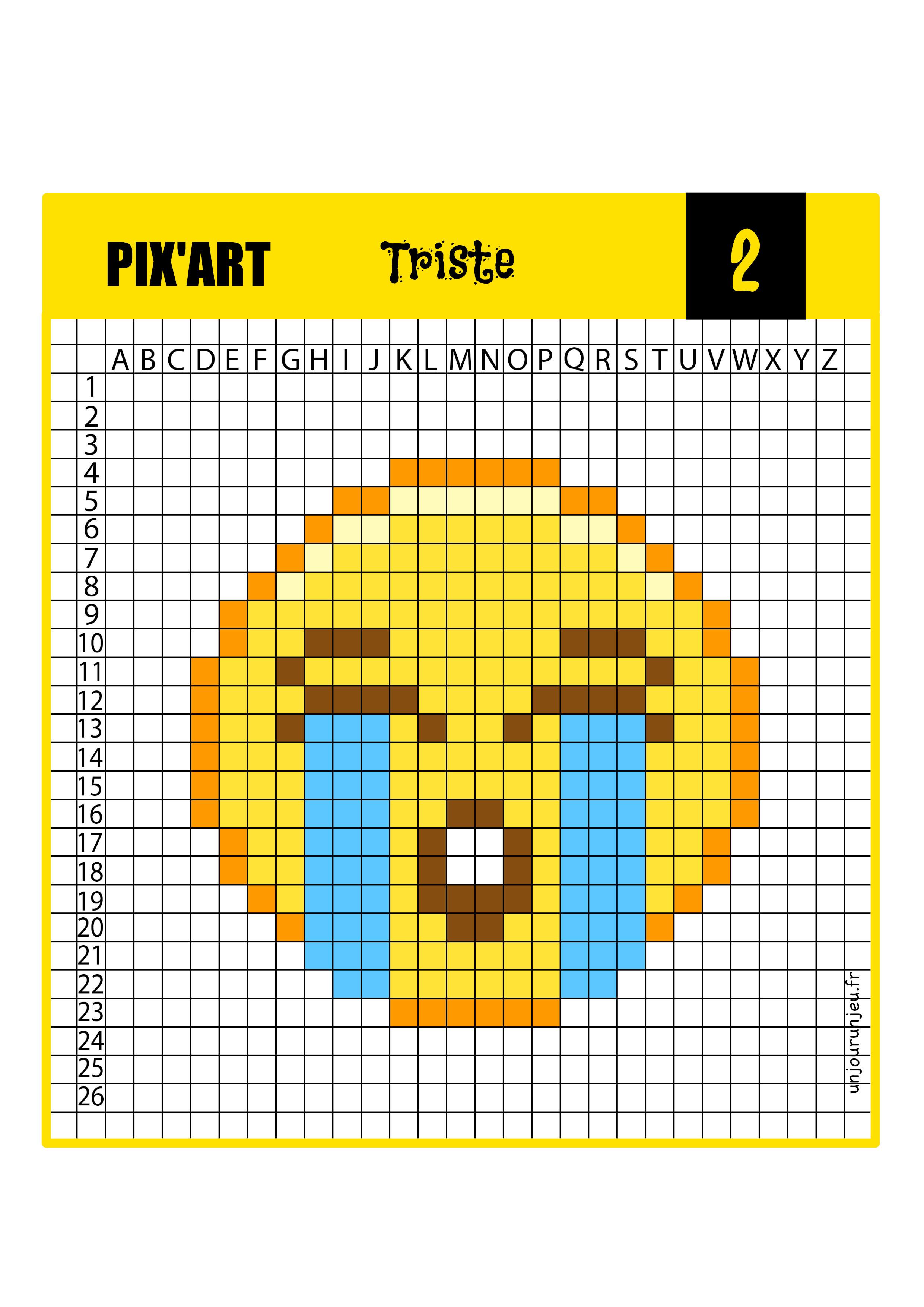 Pixel art smiley triste