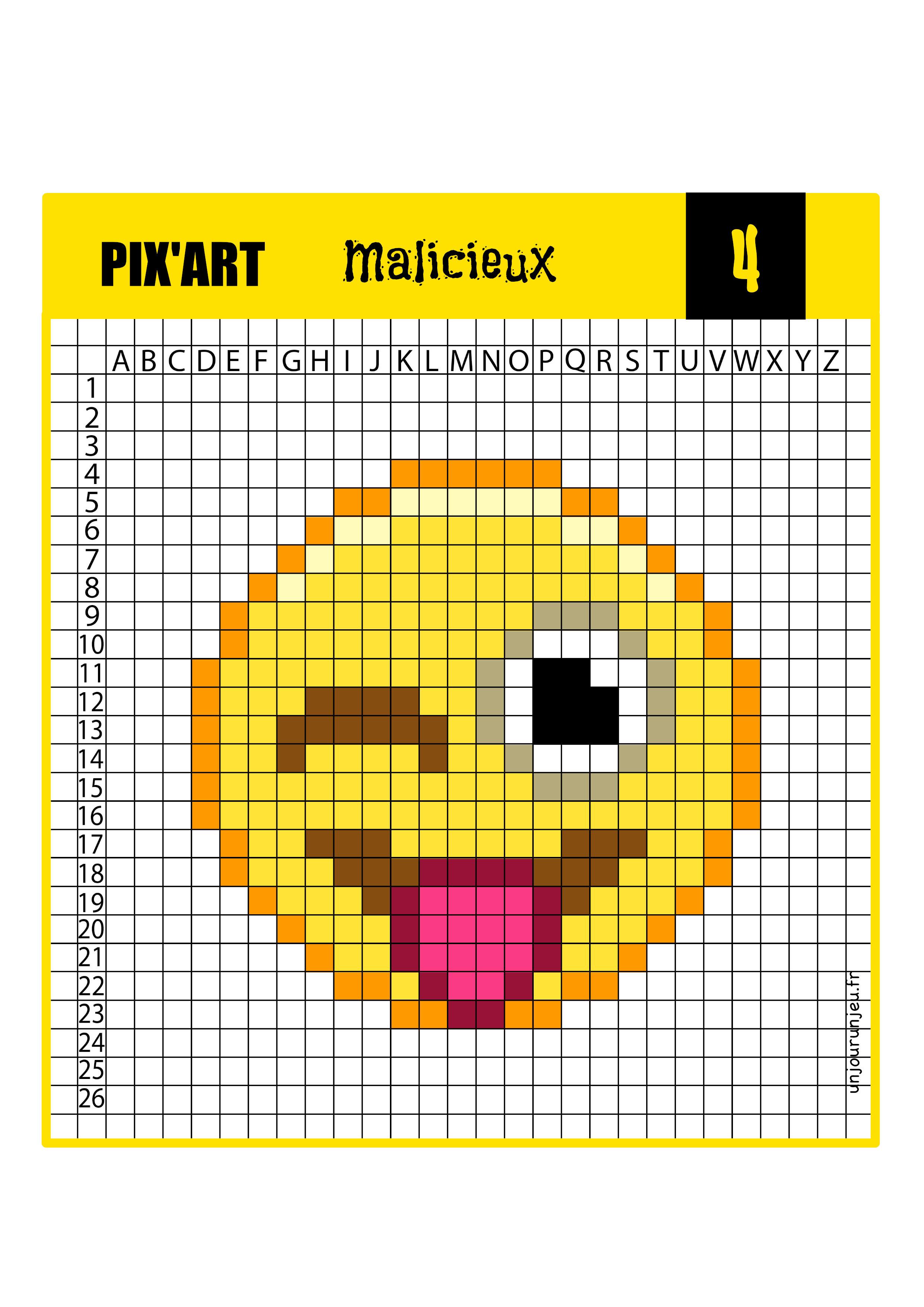 Pixel Art Modèle Facile