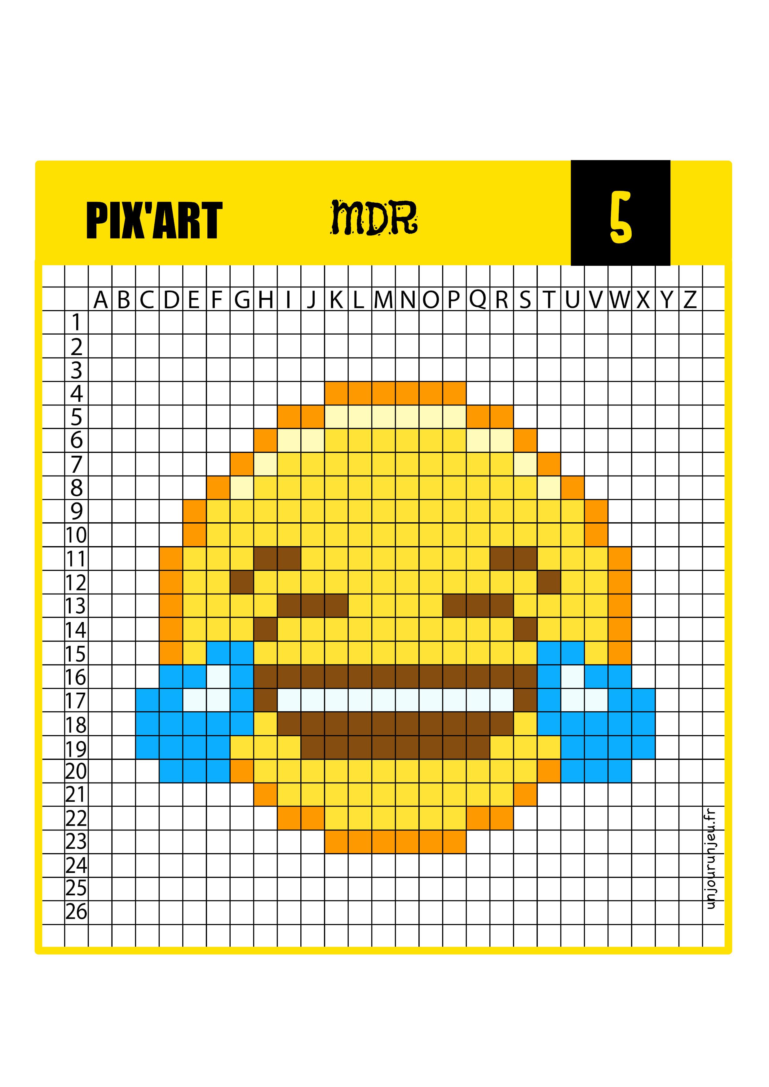 Emoji Petit Pixel Art Facile