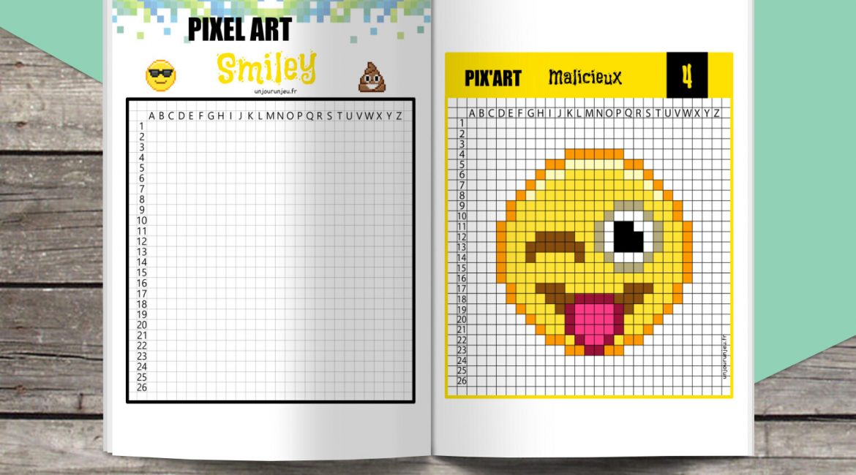 Pixel Art smiley unjourunjeu