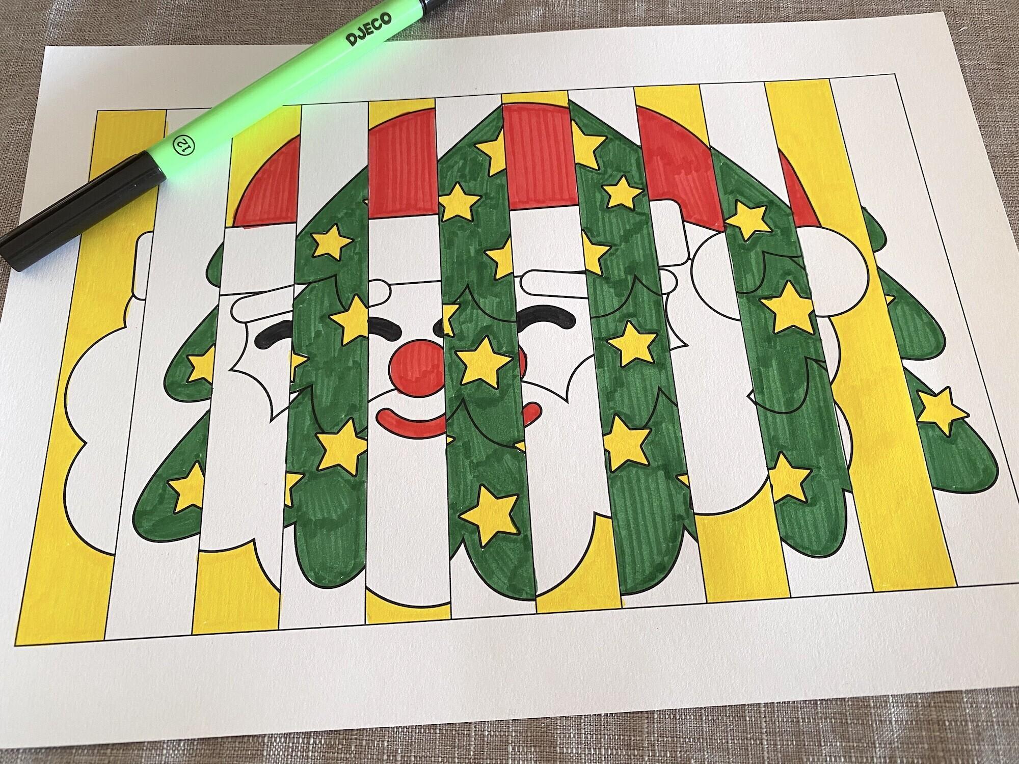 Mon agamographe de Noël à imprimer