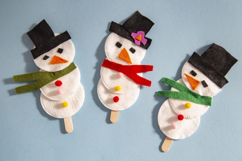 Bonhomme de neige marionnette - rendu final
