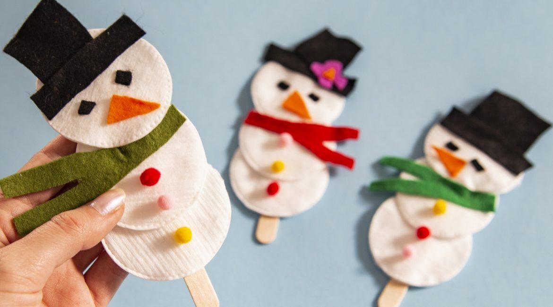 Mes bonhommes de neige marionnettes