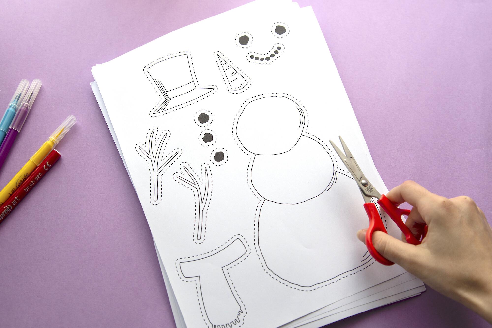Bonhomme de neige imprimé