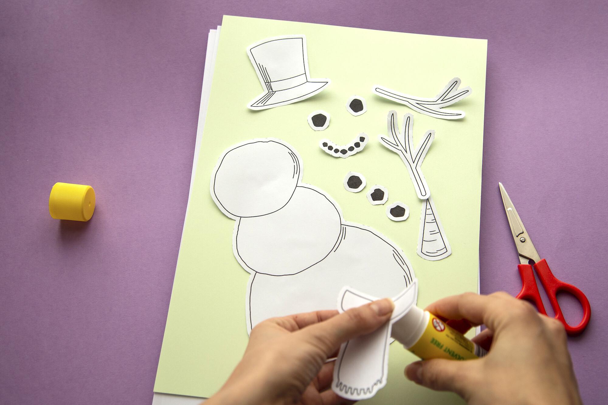 Bonhomme de neige collage