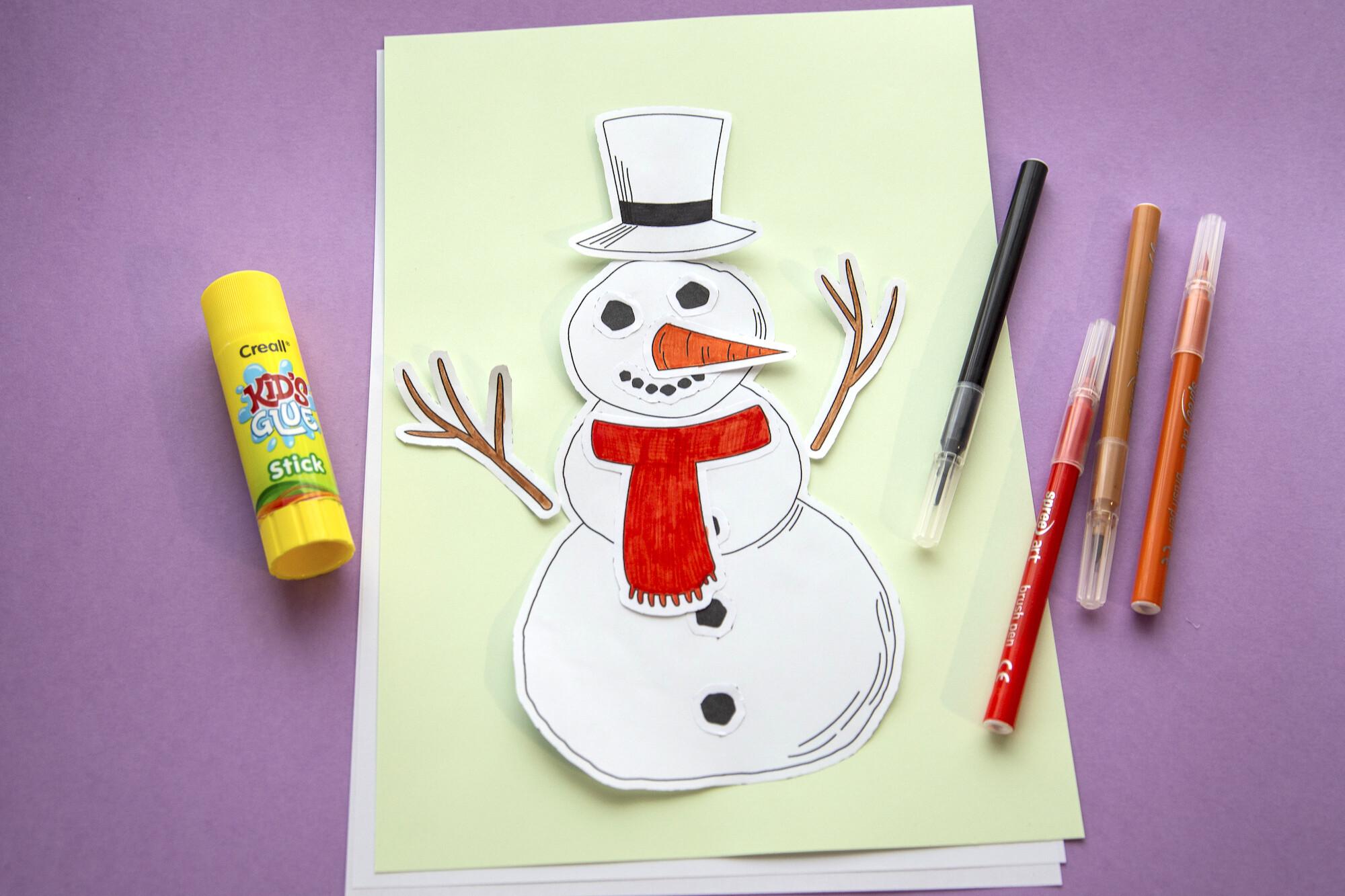 Bonhomme de neige à découper