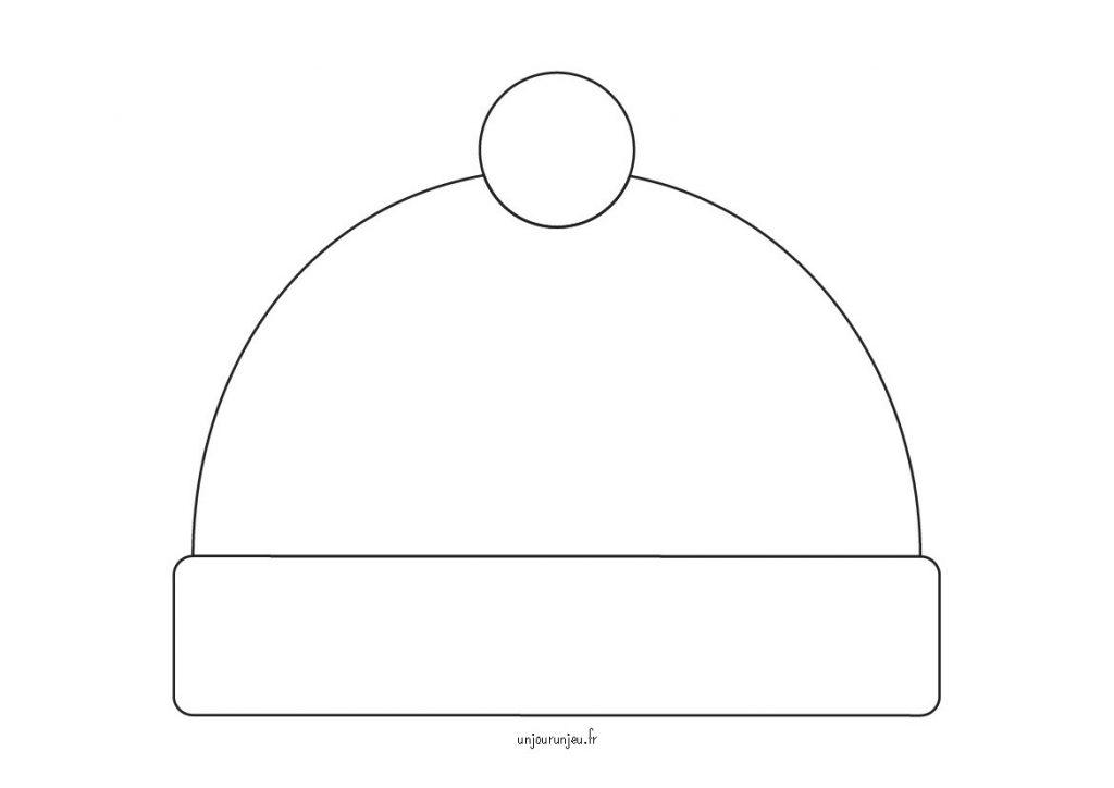 Mon bonnet d'hiver - unjourunjeu - modèle