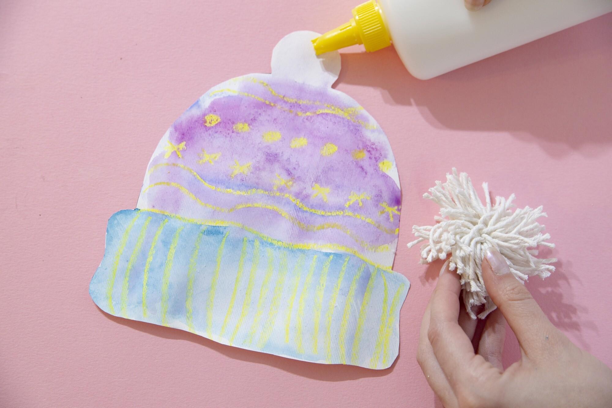 Mes petits bonnets d'hiver en aquarelle