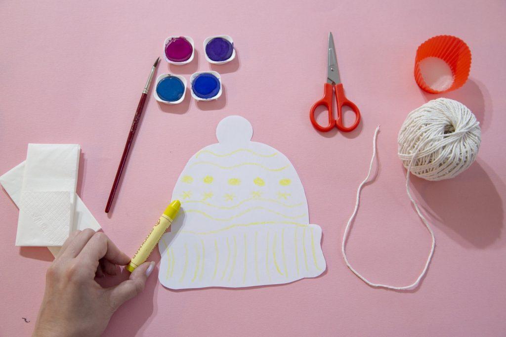 Mon bonnet d'hiver en aquarelle - matériel
