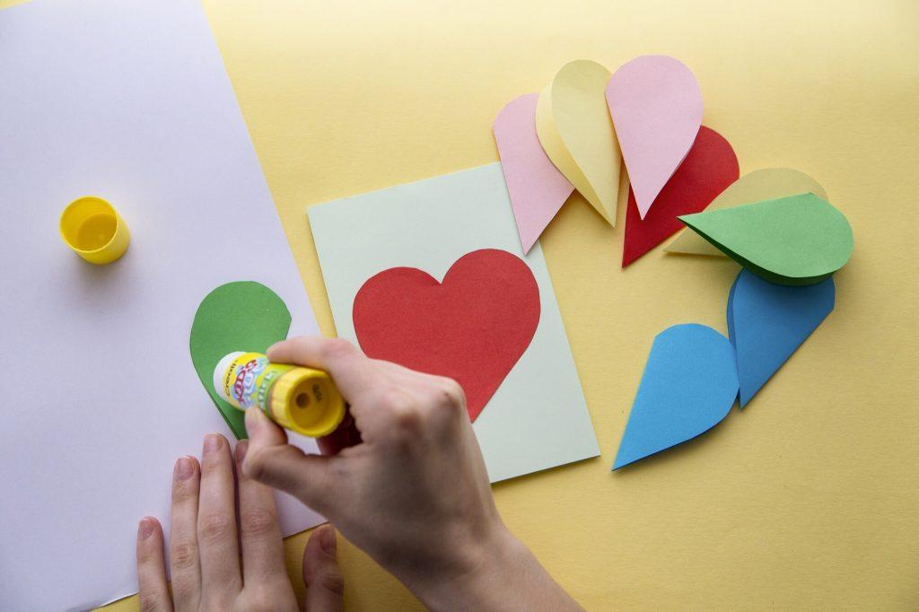 Carte cœur relief - étape 4