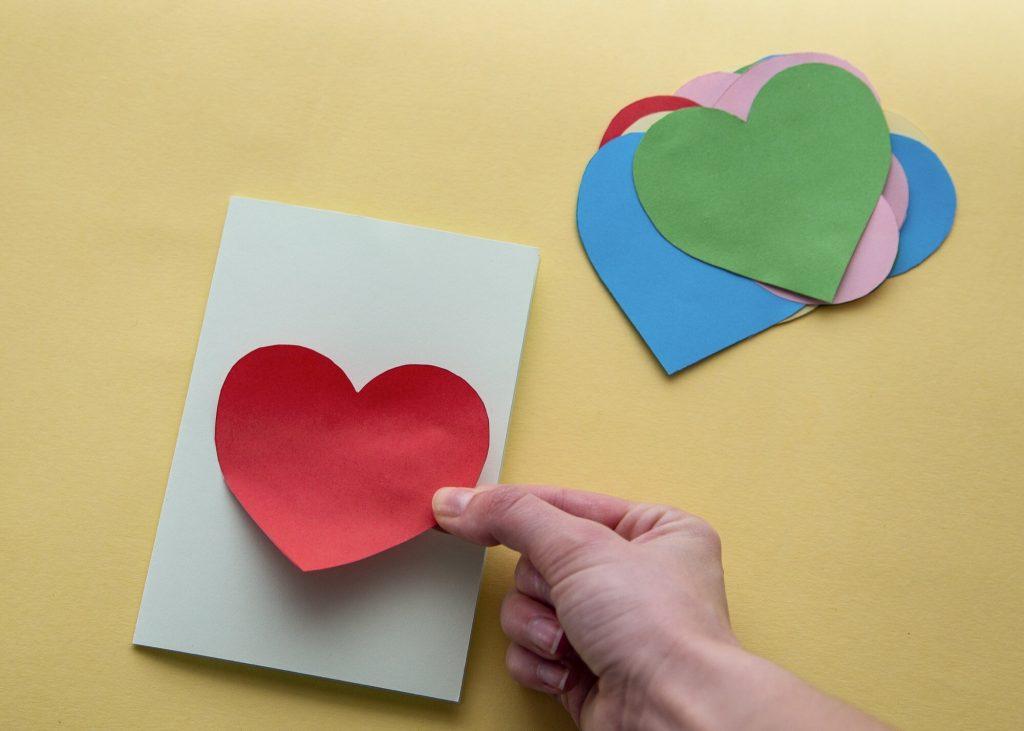 Carte cœur relief - étape 3