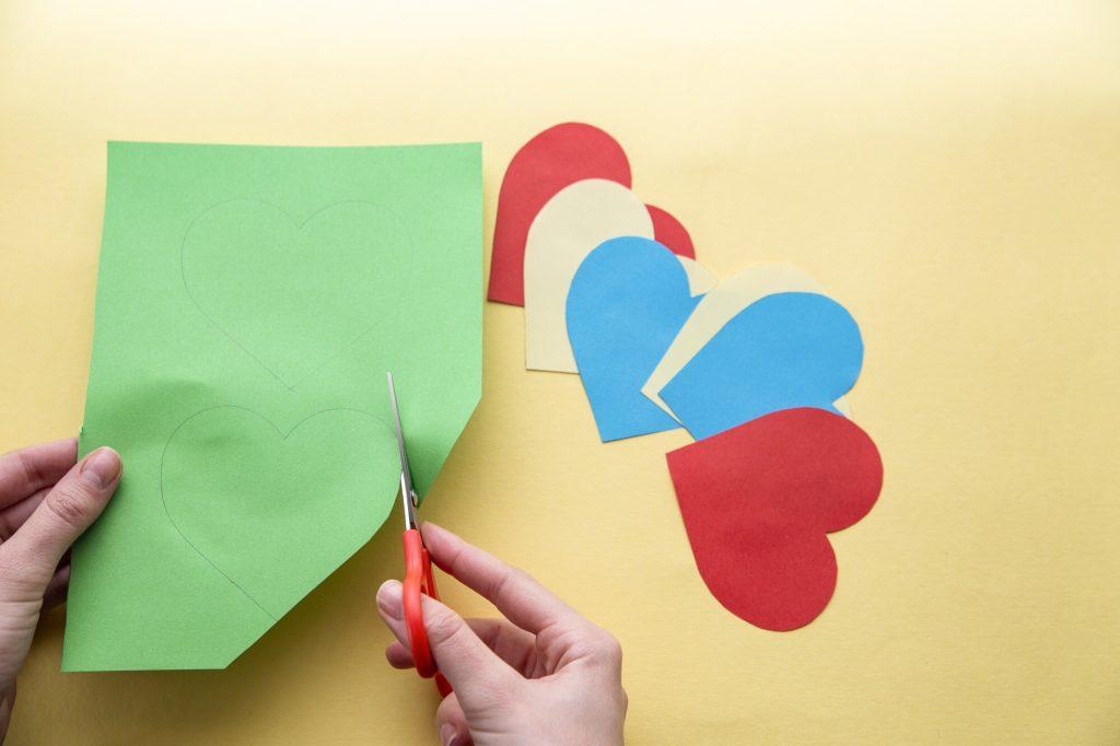 Carte cœur relief - étape 2