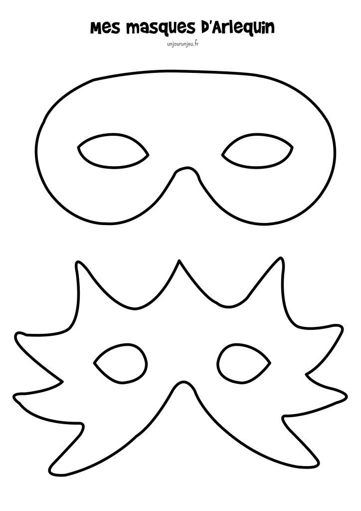 Mes modèles de masques Arlequin