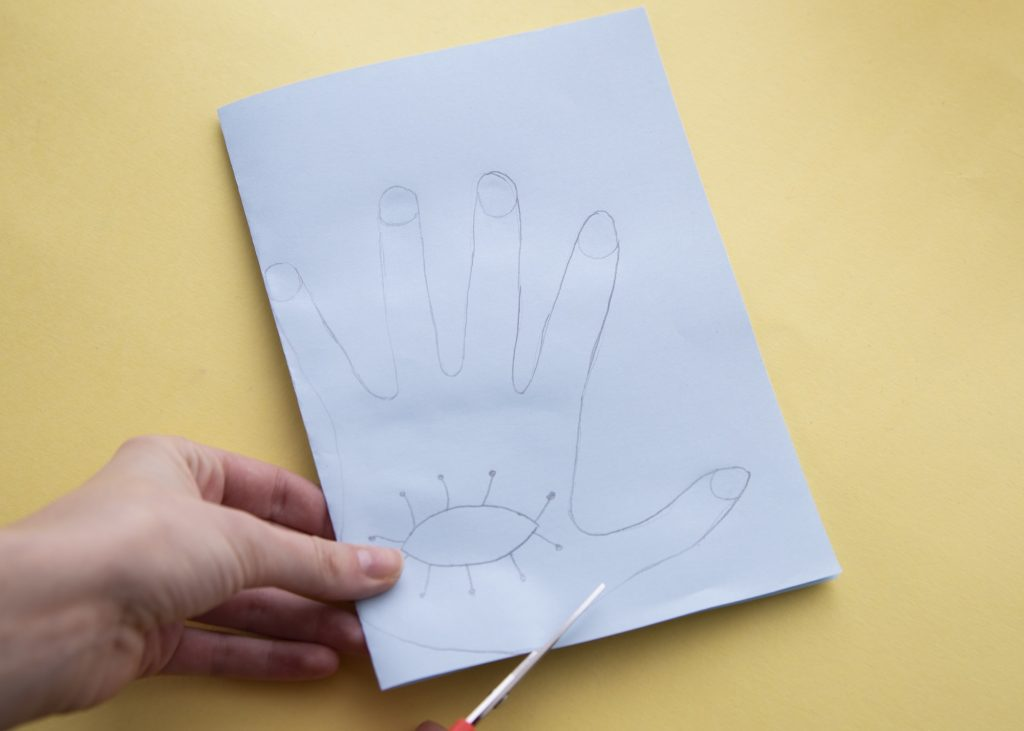 Masques mains - étape 2