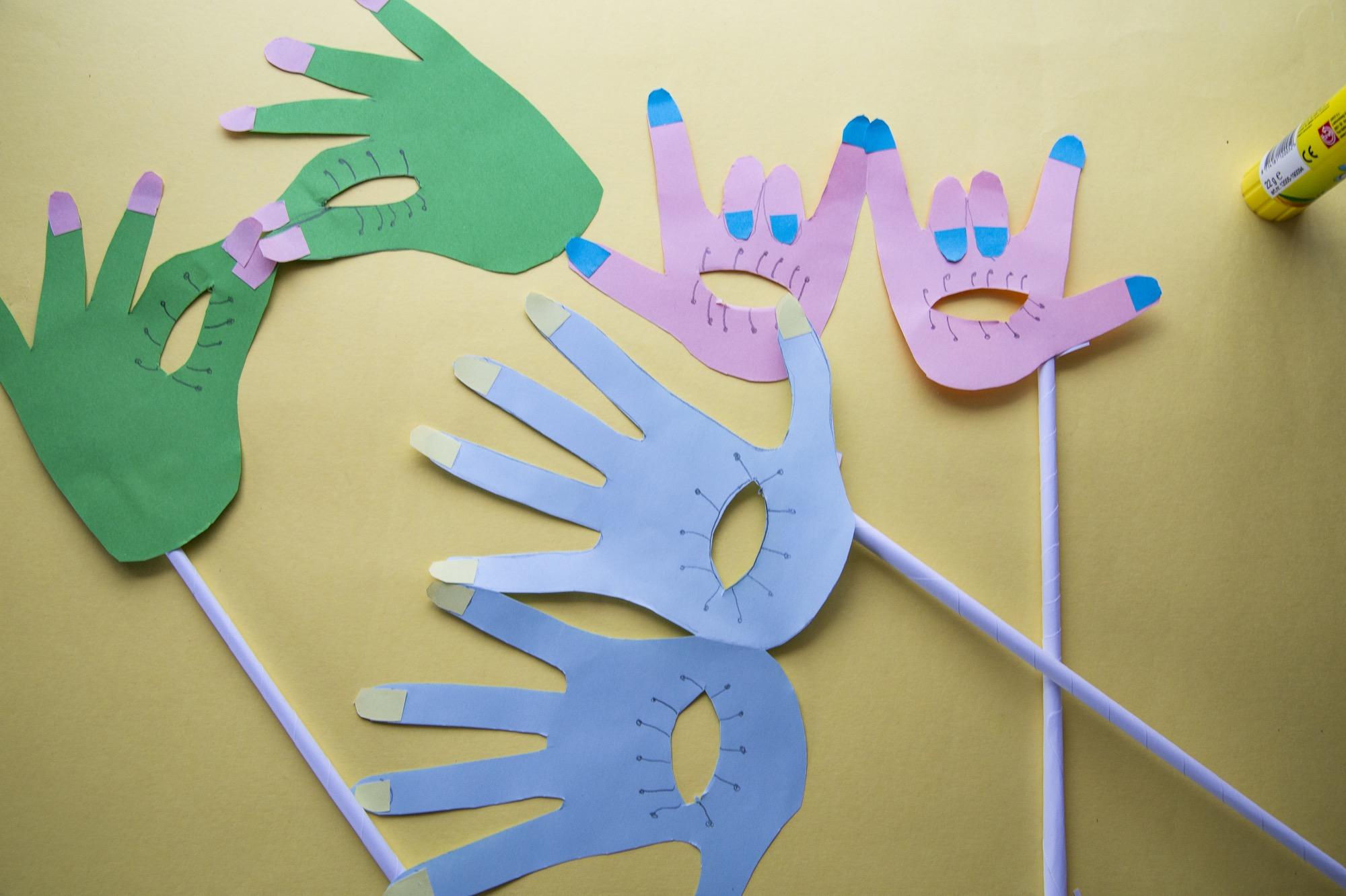 Mes masques mains pour Mardi Gras