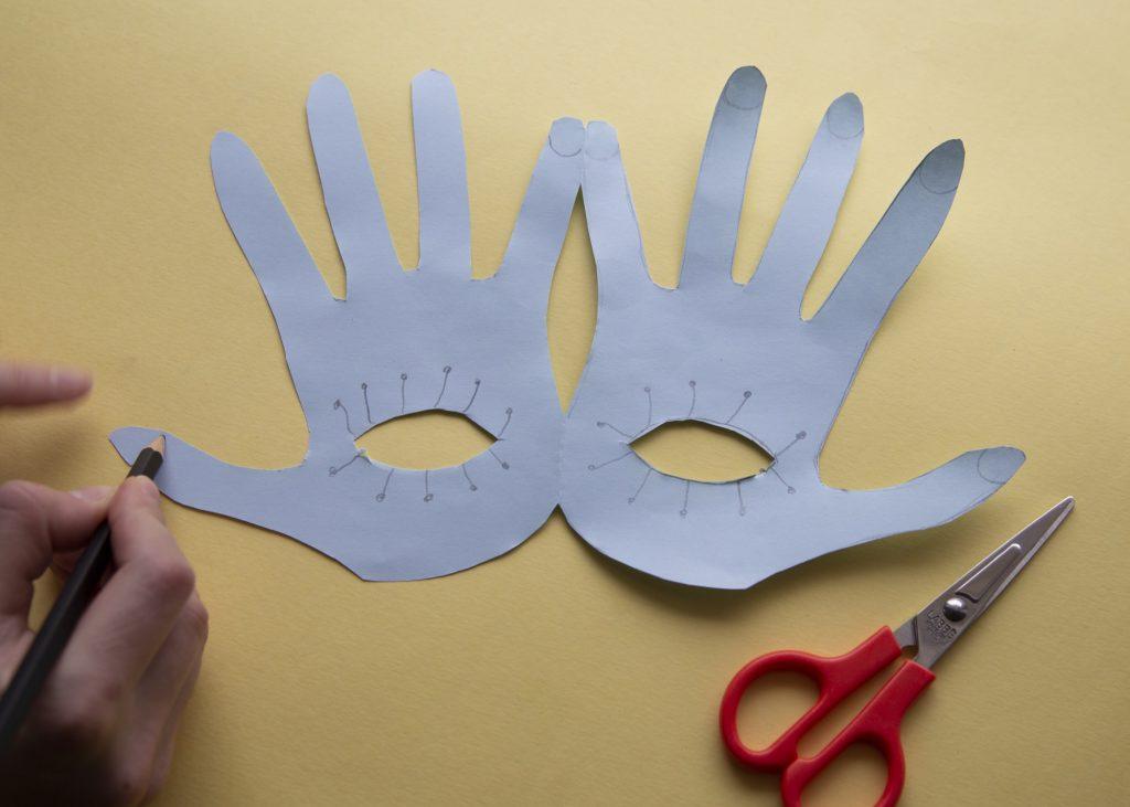 Masques mains - étape 4