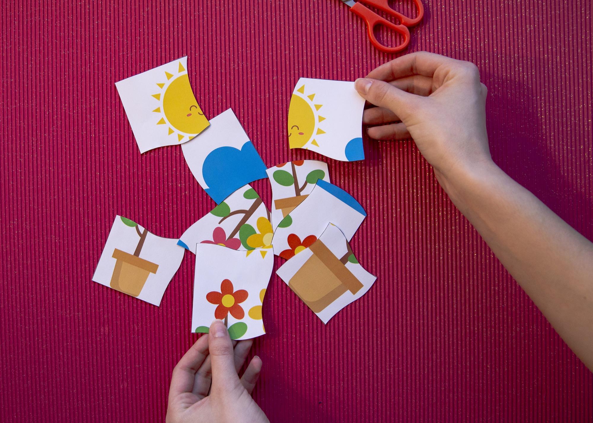 Mes puzzles du printemps - étape 5