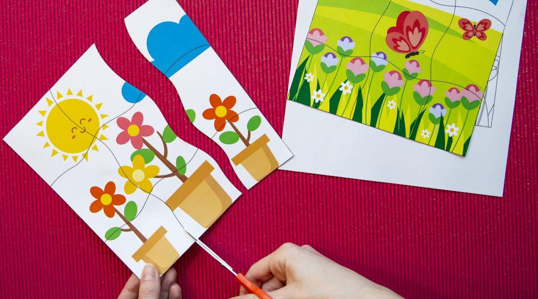 Mes puzzles du printemps - étape 4