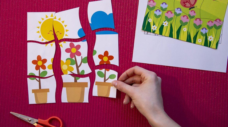 Mes puzzles du printemps - étape 6