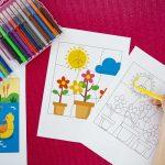 Mes puzzles du printemps à colorier