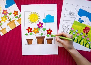 Mes puzzles du printemps - étape 2