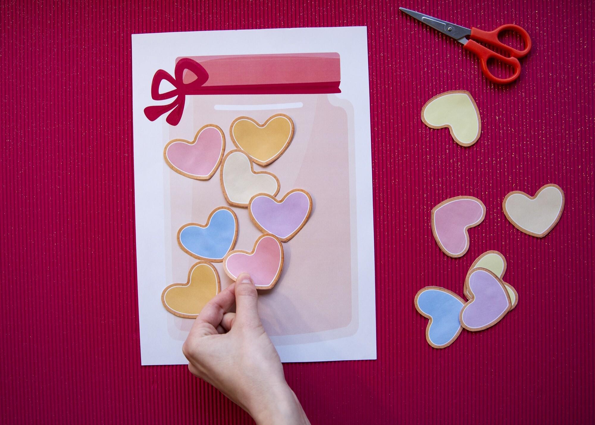 Mon bocal cœurs d'amour - étape 4