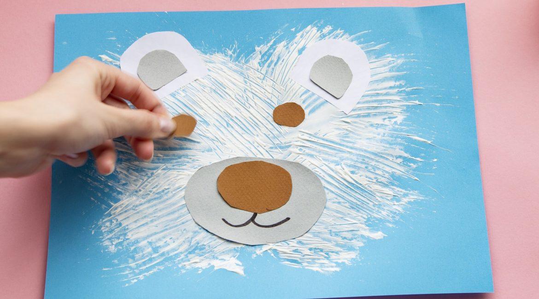 Mon ours polaire en peinture