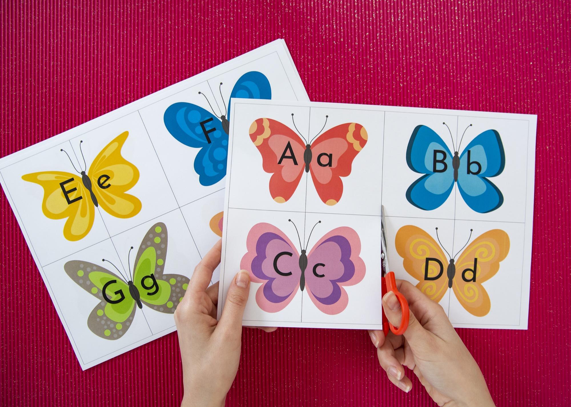 Mon double alphabet papillons - étape 2
