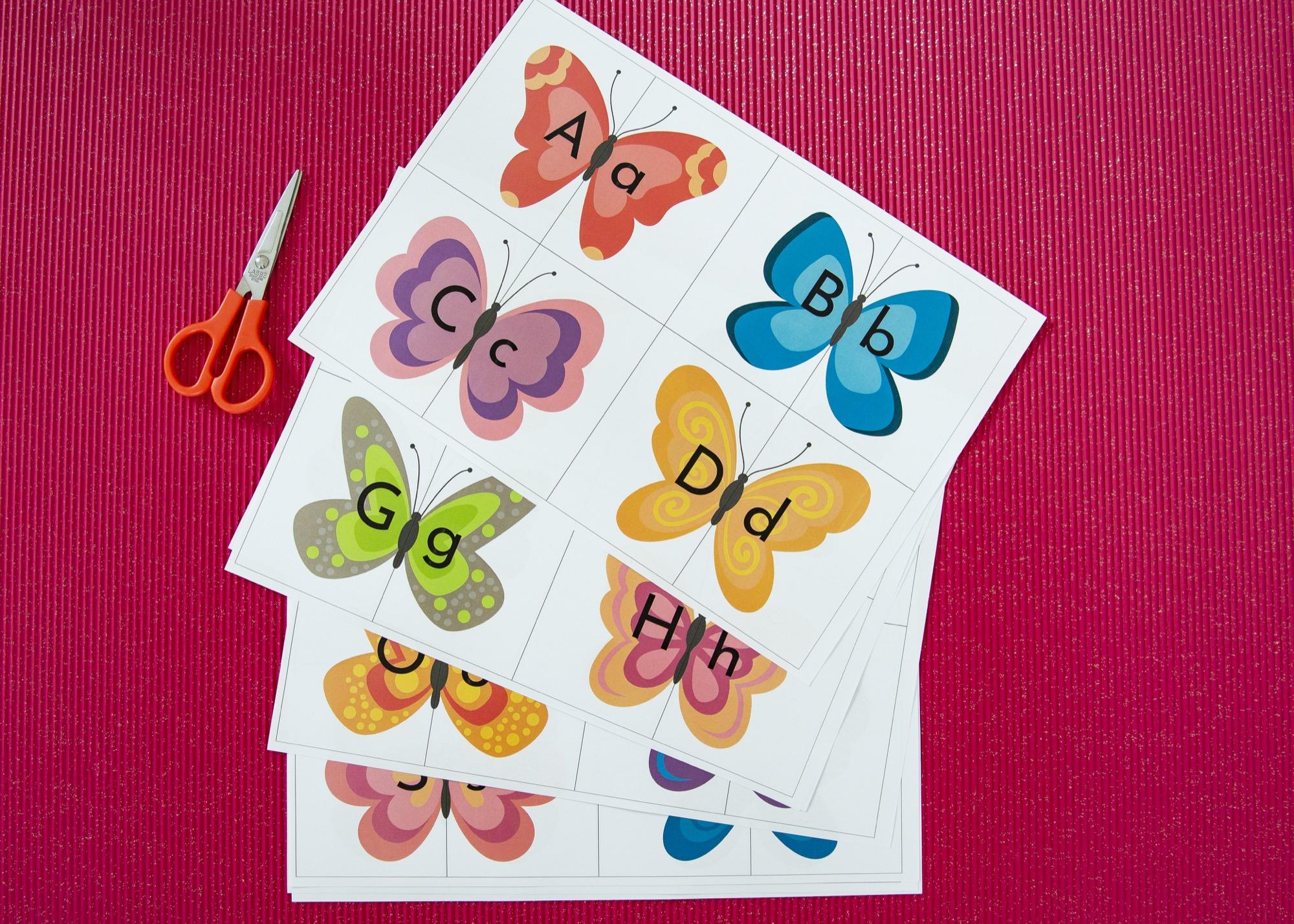 Mon double alphabet papillons - étape 1